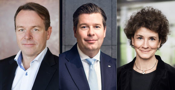 William Paus, Johan Torgeby och Viveka Hirdman