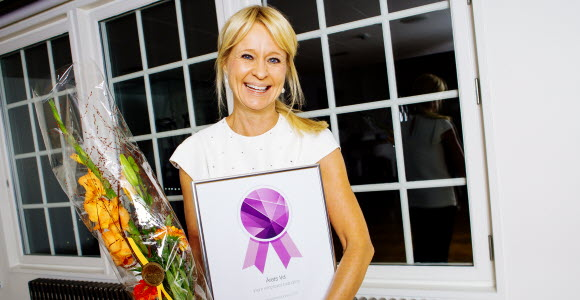 Annika Falkengren, vd SEB, vid Universum Talent Excellence Awards 2015