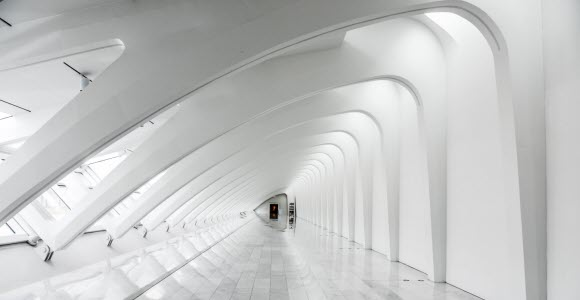 Photo: White architectural room
