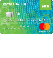 SEB Commercial debit card