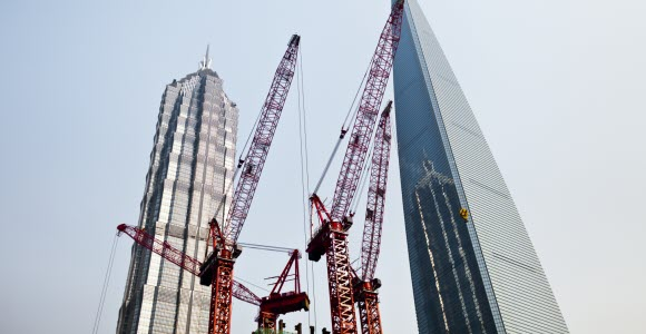 Photo: Cranes and skyscrapers